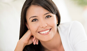 Woman with picture-perfect smile